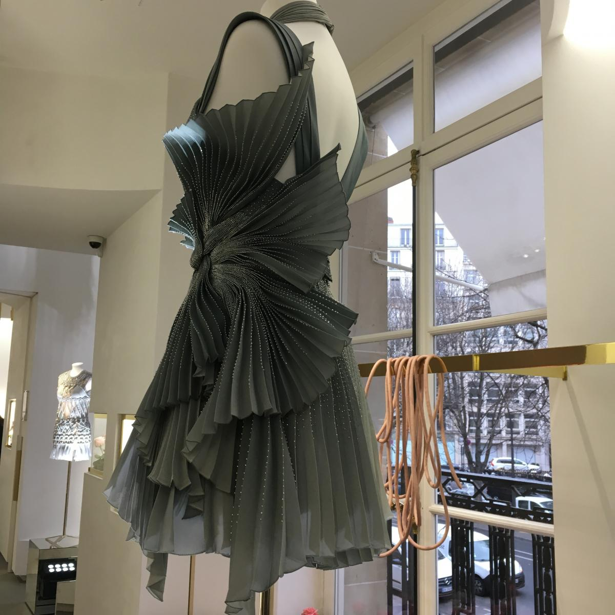 Versace Atelier ss2017 as shown in their showroom on Avenue Montaigne in Paris