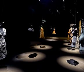 Nourredine Amir's Sculpted Dresses at the Fondation Pierre Bergé-Yves Saint Laurent in Paris. Copyright Luc Castel