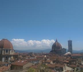 The roofs of Florence with the impressive Duomo in the back