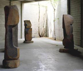 Interior view of the Noguchi Museum in New York