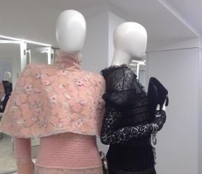 A new take on tweed in the showroom of Chanel's Paris-Rome collection