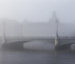 Stockholm in the fog